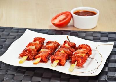 Hähnchenspieße Tomate